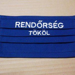 8 db feletti Színes Textil Szájmaszk Hímzett testületi megjelöléssel, a második sor ajándék!